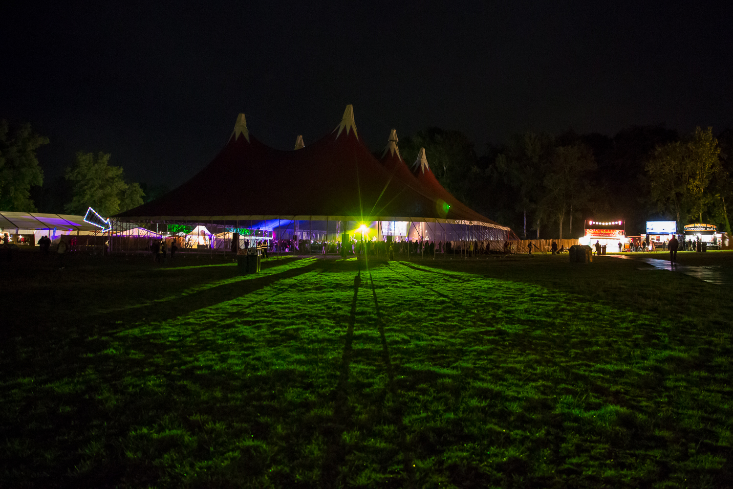 Glade Stage at night